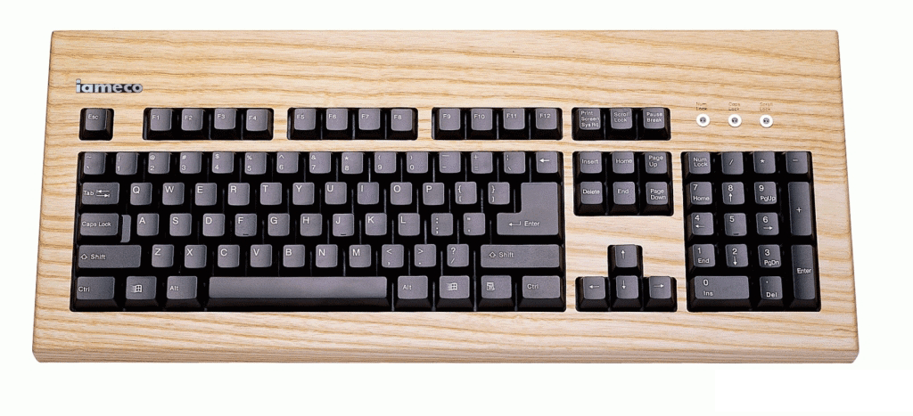 iameco ash wooden keyboard